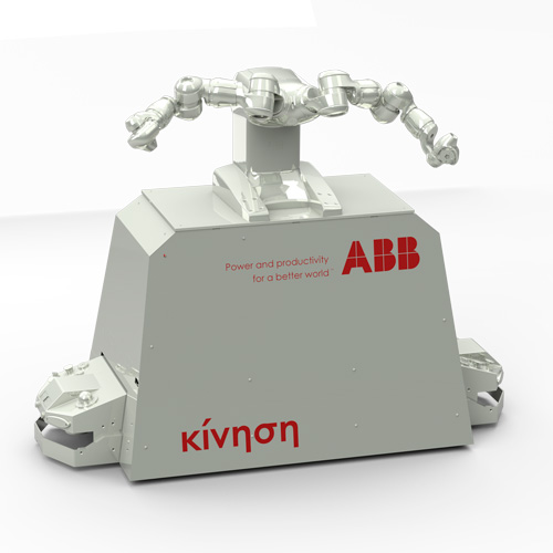 Kivnon and ABB develop a 'Collaborative Robot AGV' together
